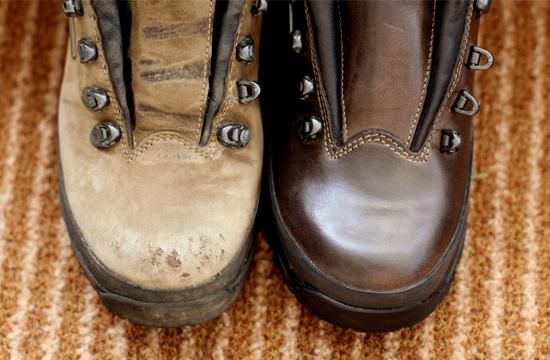 登山靴のお手入れ